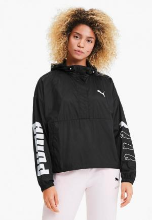 Ветровка PUMA 1 2 Zip Jacket. Цвет: черный