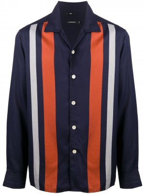 Рубашка в стиле колор-блок J.Lindeberg. Цвет: синий