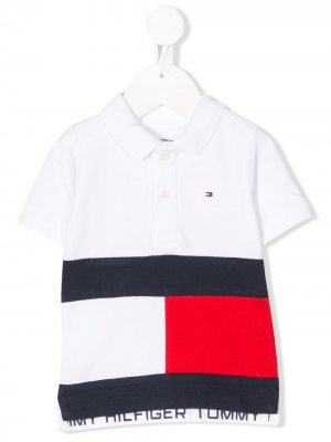 Рубашка поло с вышитым логотипом Tommy Hilfiger Junior. Цвет: белый