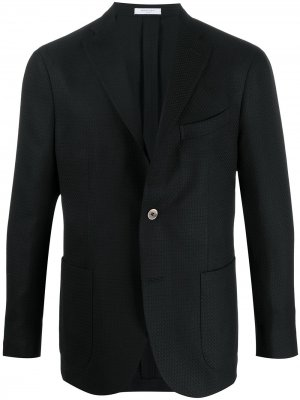 Фактурный пиджак Boglioli. Цвет: черный