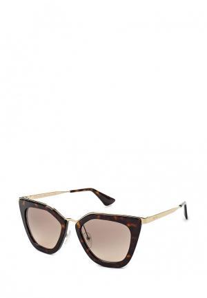 Очки солнцезащитные Prada PR 53SS 2AU3D0. Цвет: коричневый