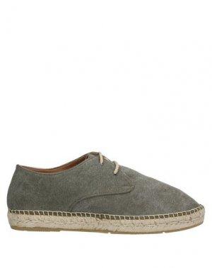 Обувь на шнурках ESPADRIJ. Цвет: зеленый-милитари