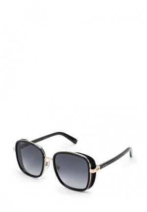 Очки солнцезащитные Jimmy Choo ELVA/S 2M2. Цвет: черный