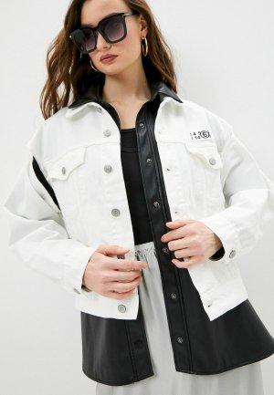 Куртка джинсовая MM6 Maison Margiela STUDIO COLLECTION. Цвет: белый