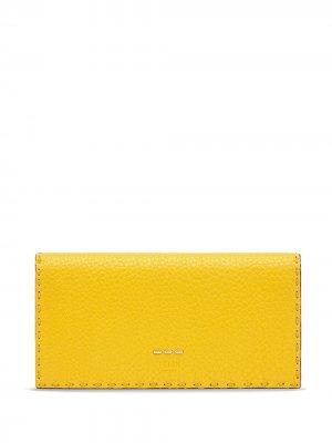 Кошелек Continental Fendi. Цвет: желтый