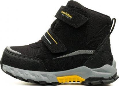 Ботинки утепленные для мальчиков Valiant, размер 33 LASSIE. Цвет: черный