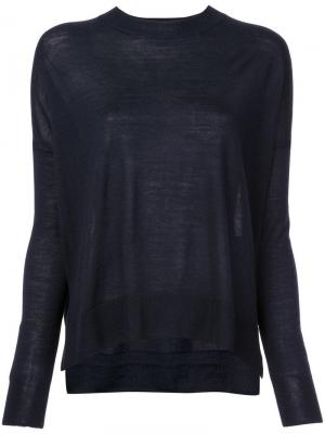 Boxy crew neck Sweater Derek Lam 10 Crosby. Цвет: синий