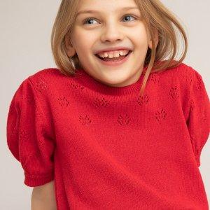 Пуловер LaRedoute. Цвет: оранжевый