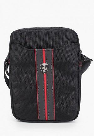 Сумка Ferrari для планшетов 8, Urban Bag Nylon/PU Carbon Black. Цвет: черный