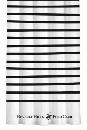 Штора, 140х260 Beverly Hills Polo Club. Цвет: white, black