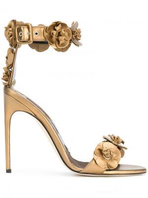 Туфли с ремешками Brian Atwood. Цвет: коричневый