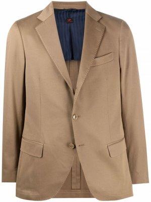 Однобортный пиджак Andy MP Massimo Piombo. Цвет: нейтральные цвета