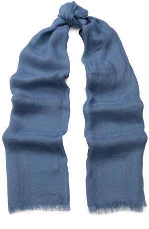 Шаль Neilos из смеси льна и шерсти с шелком Loro Piana. Цвет: голубой