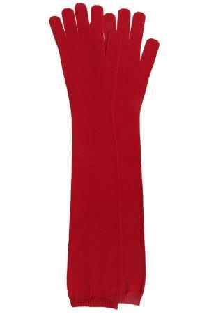 Перчатки mm6. Цвет: бордовый