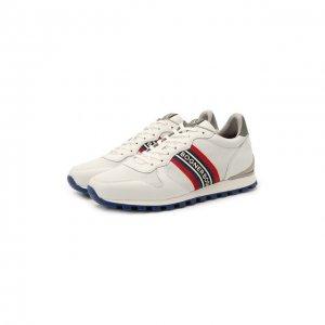 Кожаные кроссовки Bogner. Цвет: белый