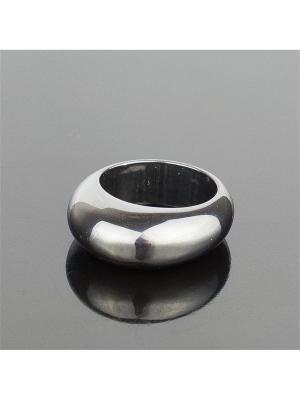 Перстень Классика Гематит Колечки. Цвет: серый