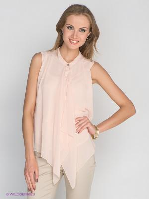 Блузка DRS Deerose. Цвет: бледно-розовый