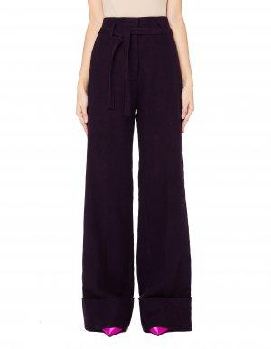 Фиолетовые брюки-клеш Ann Demeulemeester