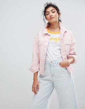 Джинсовая куртка Wrangler. Цвет: розовый
