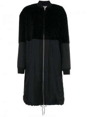 Длинная куртка-бомбер McQ Alexander McQueen. Цвет: чёрный