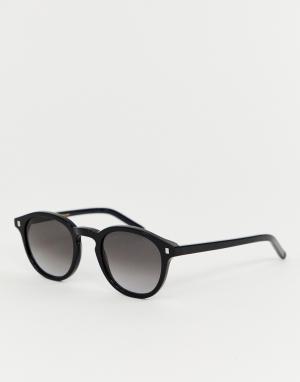 Черные круглые солнцезащитные очки Nelson-Черный Monokel Eyewear