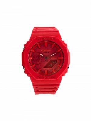 Наручные часы GA2100-4AER 48.5 мм G-Shock. Цвет: красный