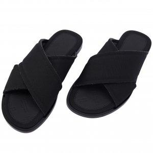 Текстильные сандалии черного цвета Maison Margiela