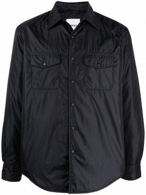 Куртка-рубашка на пуговицах Aspesi. Цвет: черный