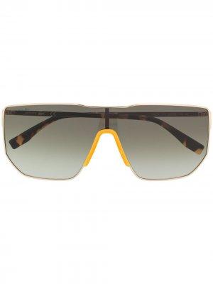 Солнцезащитные очки Shield Lacoste. Цвет: зеленый
