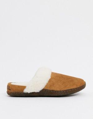 Бежевые замшевые слиперы -Светло-коричневый Sorel