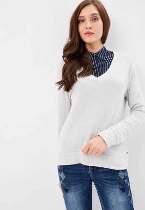 Пуловер Zabaione. Цвет: серый