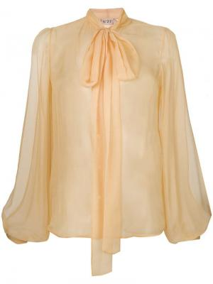 Pussy-bow blouse Nº21. Цвет: желтый