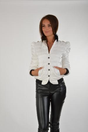 Куртка Disetta. Цвет: белый
