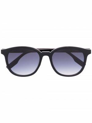 Солнцезащитные очки в круглой оправе MCQ. Цвет: черный