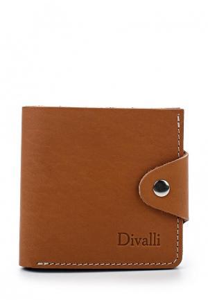 Портмоне Divalli. Цвет: коричневый