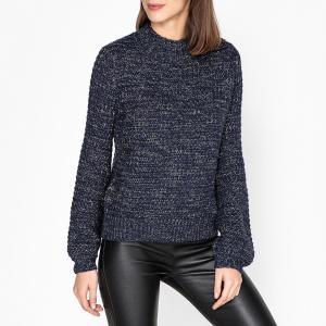 Пуловер с воротником-стойкой из плотного трикотажа LEON AND HARPER. Цвет: темно-синий
