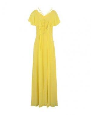 Длинное платье KARL LAGERFELD. Цвет: желтый
