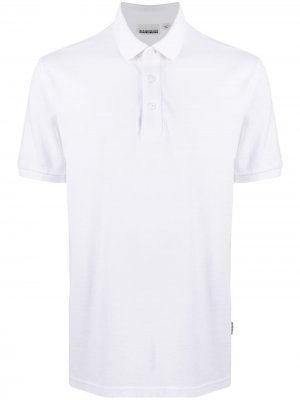 Рубашка поло с вышитым логотипом Napapijri. Цвет: белый
