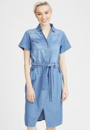 Платье джинсовое Mossmore. Цвет: синий