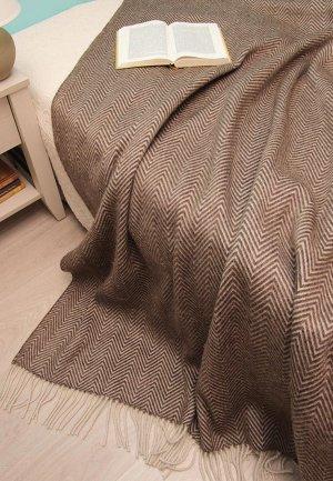 Плед Arloni 200*140 см. Цвет: коричневый