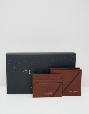 Подарочный набор с бумажником и визитницей Piaza-Коричневый Ted Baker