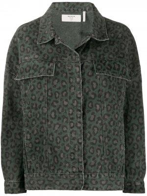 Джинсовая куртка с леопардовым принтом One Teaspoon. Цвет: серый