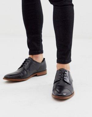 Черные туфли с отделкой на носке -Черный Base London