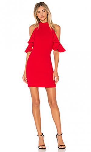 Платье haven Amanda Uprichard. Цвет: красный
