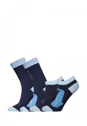 Комплект bb socks. Цвет: синий