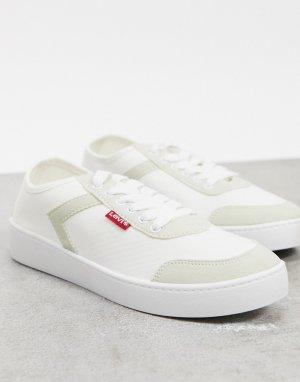 Белые кроссовки со шнуровкой Levis Blanc-Белый Levi's