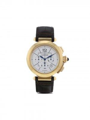 Наручные часы Pasha Chrono pre-owned 42 мм 2010-х годов Cartier. Цвет: серебристый