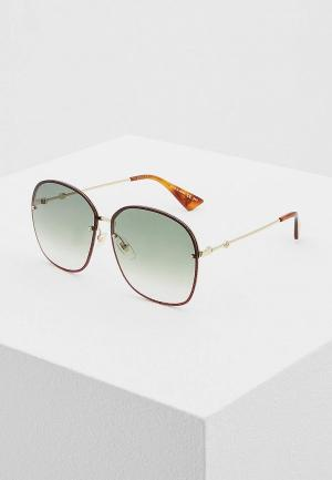 Очки солнцезащитные Gucci GG0228S001. Цвет: красный