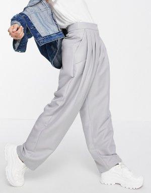 Серые большие брюки в винтажном стиле Ultimate-Серый ASOS DESIGN