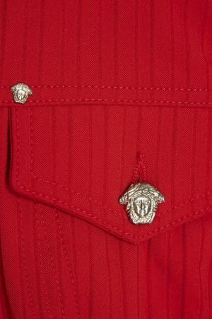 Джинсовый жилет (1990-е) Versace Jeans Vintage. Цвет: красный
